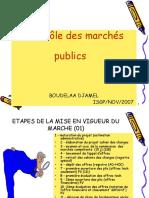 CONTROLE DES MARCHES PUBLICS