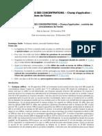 Fasc. Controle des concentrations (champ d'application)