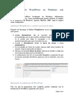Instalación de WordPress en Windows con WampServer