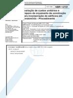 NBR 12721 - 1999 - Avaliação de Custos Unitários para Incorporação de Edifícios - Procedimento-desbloqueado