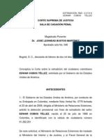 Concepto CSJ sobre extradición de 'Diego Vecino'