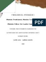 Cuadro Comparativo - modelo tradicional, modelo tecnológico y modelo crítico