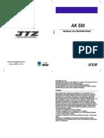 Manual Do Proprietário Ak550