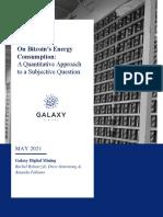 Galaxy Digital Mining - On Bitcoin Energy Consumption