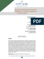O  Caminho do Vinho em São José dos Pinhais. Um território em Transformação