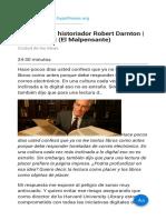 Entrevista al historiador Robert Darnton   Boris Muñoz (El Malpensante)