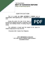 Certification Gino