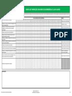checklist chuveiro de emergencia e lava-olhos
