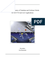 precursor chemistry of Ta and Nb nitride for MOCVD and ALD applications