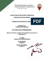 ACTIVIDAD de APRENDIZAJE 1_LOZADA NOE_ Efectos Económicos y Políticos de La Migración Como Factor de Desintegración