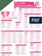 Liste de Lutte Ouvrière en Occitanie