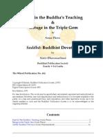 Faith in the Buddha's Teaching & Refuge in the Triple Gem & Saddhā