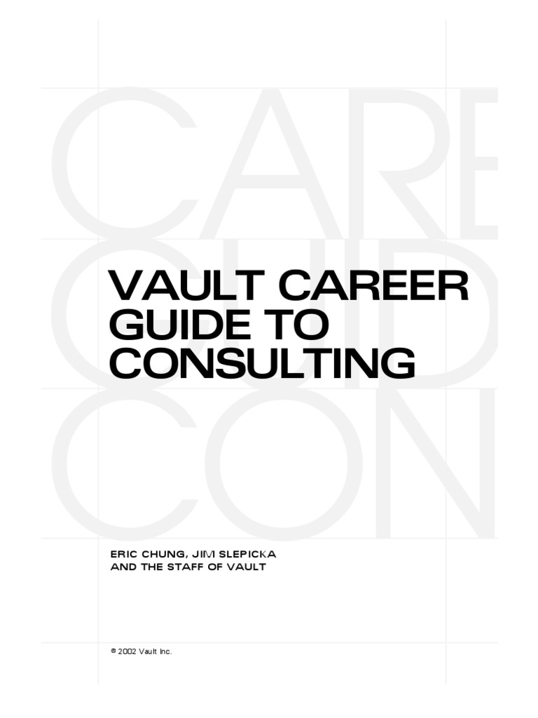 The vault guide to consulting consultant strategic management fandeluxe Choice Image