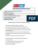 Atividade Avaliativa Elementos de Máquinas I (1)
