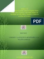 Unidad 5 - La Política Monetaria y La Política Fiscal