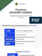 Raportul COVID-19 privind Situația Epidemiologică la 17 mai 2021 (ora 17:00):
