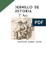 Cuadernillo Historia 3 - 1° Bloque