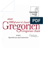 GREGORIAN CHANT ~overview of History and Musical Forms