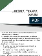 TERAPIA  DURERII 2020
