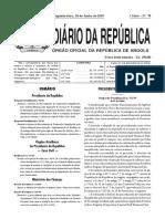 Decreto Executivo n.º 134-19 de 10 de Junho Sobre Os Modelos Declarativos Do Imposto Sobre o Valor Acrescentado