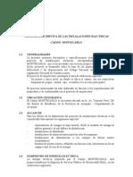 MEMORIA DESCRIPTIVA DE LAS INS ELECT CASINO MOMTECARLO