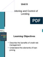 Lending - Unit 6 -Monitoring and Control of Lending