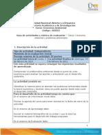 Guía de Actividades y Rúbrica de Evaluación - Tarea 1 - Economía Ambiental y Problemas Ambientales