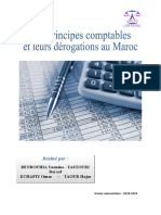 Principes comptables et leurs derogation au Maroc