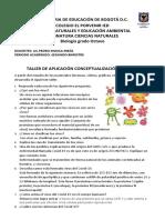TALLER DE APLICACIÓN CONCEPTUALIZACIÓN DE VIRUS