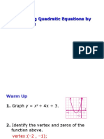 9-4 Solving Quadratic Equations by Graphing