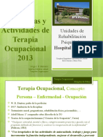actividades para la Terapia Ocupacional