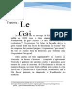 Présentation Générale de -Le Gai Savoir-