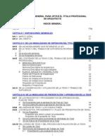 Reglamento General para optar al Titulo Profesional de Arquitecto  FAUA UPAO