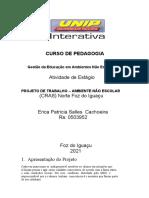 Projeto de Intervençao Cras 03