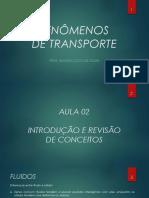 fenômenos dos transportes - conceitos