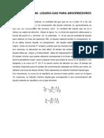 10.2 ABSORCIÓN DE GASES, RELACIÓN MÍNIMA  LÍQUIDO - GAS (1)