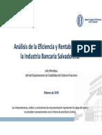 4.2 EFICIENCIA DEL SISTEMA FINANCIERO