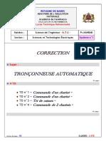 1 Tronconneuse Automatique Grafcet Organigramme Systeme Minimum Corrige