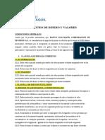 POLIZA DE SEGURO DE DINERO Y VALORES