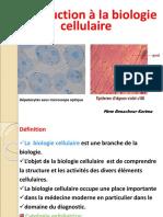 Introduction à La Biologie Cellulaire B1