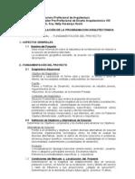 GUIA PARA FORMULACIÓN DE LA PROGRAMACION ARQUITECTONICA