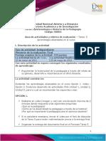 Guia de actividades y Rúbrica de evaluación - Tarea 5 - Aprendizajes alcanzados en el curso