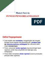 ISIP4111_Materi Sesi 4a_Fungsi Pengorganisasian