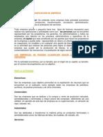 CONCEPTO DE EMPRESA Y CLASIFICACION