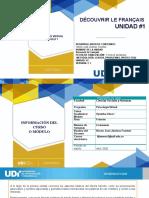 Unité 1. Programme Français Virtual