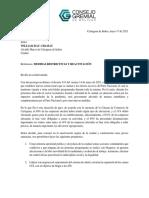 Carta Pública del CGB Al Alcalde William Dau'