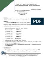 Examen en gestion budgétaire