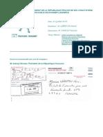 2010 07 02 Lettre Sarkozy President de La Republique Courrier