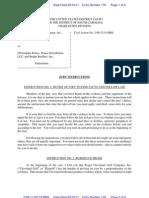 Roger Cleveland v Prince Jury Instructions