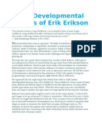The Developmental Stages of Erik Erikson